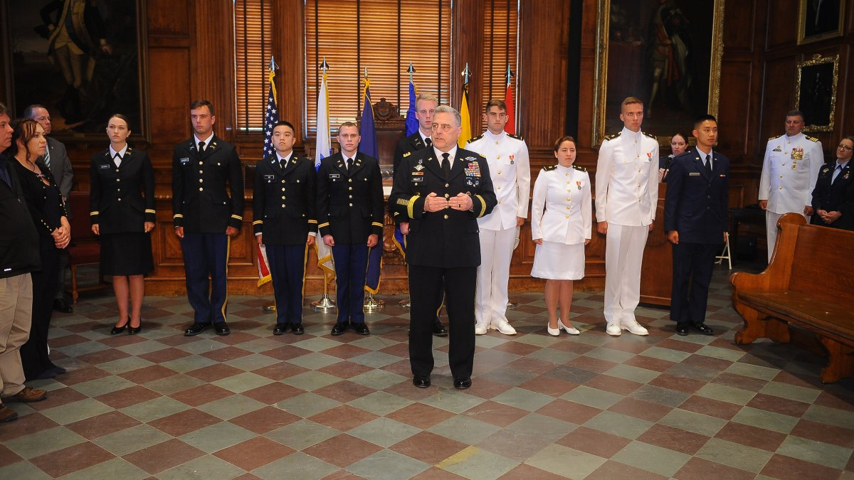 General Mark A. Milley '80 explains the significance of the Oath of Office